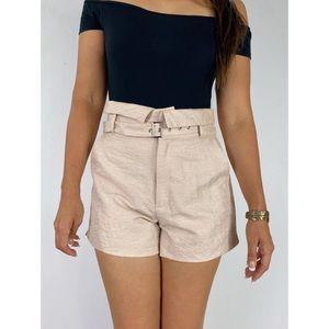 BARDOT High Waist Paperbag Belted Shorts Sz AU 12
